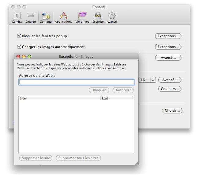 Firefox : images bloquées